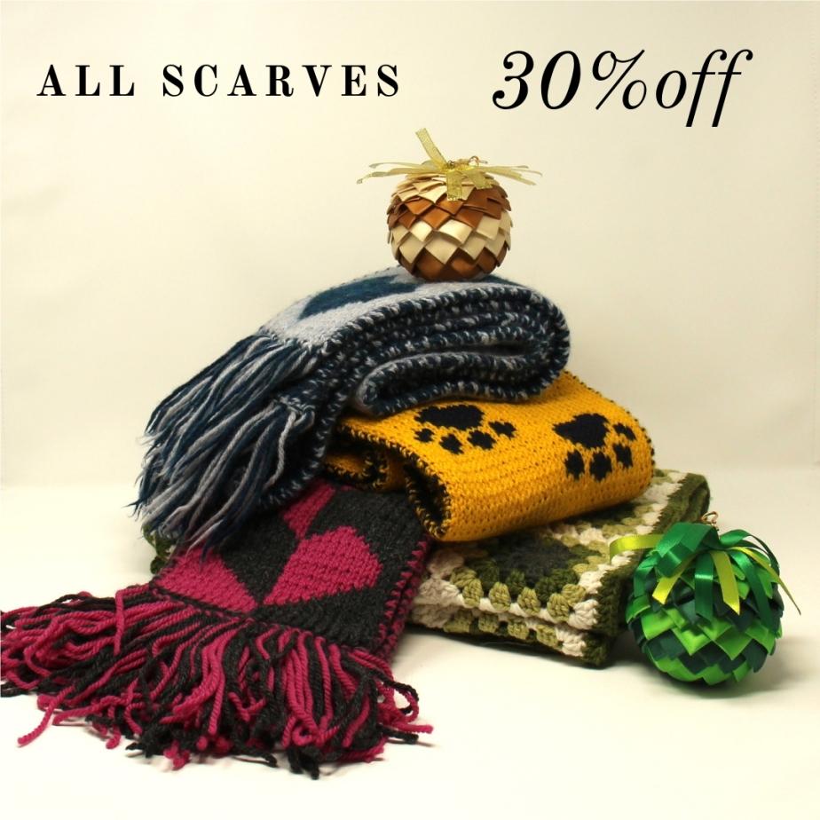 30% scarf sale!